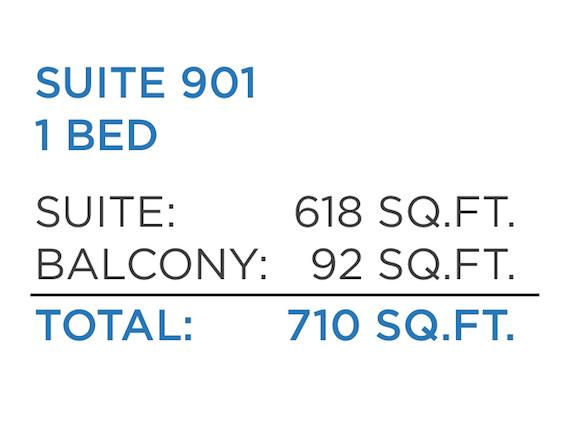 Sub Penthouse  One Bedroom  710 SQFT